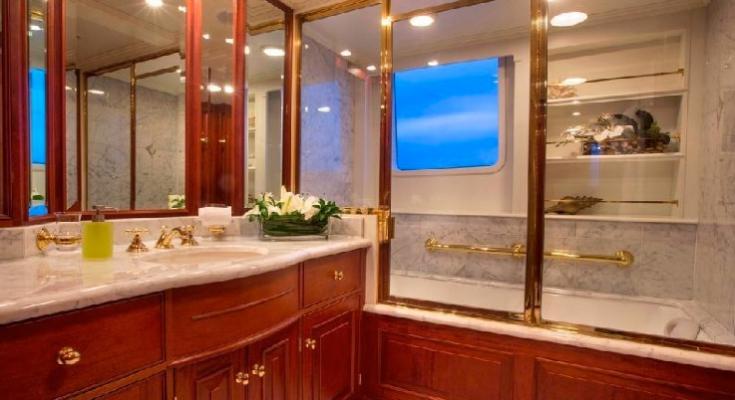 luxurious accomodations on the Lady J yacht available via Carol Kent Yacht