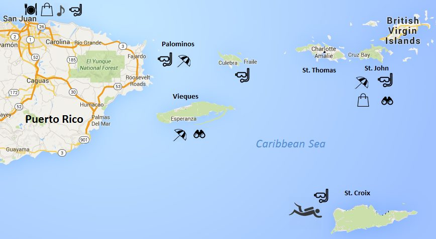 usvi map us virgin islands click to enlarge