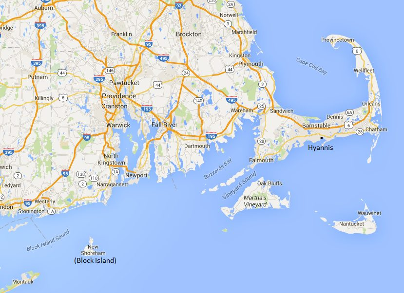 Newport Luxury Yacht Charter map