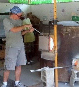 BVI Green Glass Blower