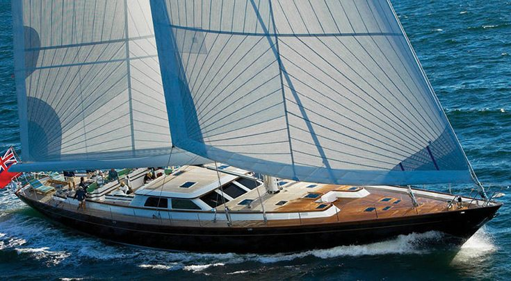 116ft Holland Jachtbouw sailing yacht Whisper operating in North America