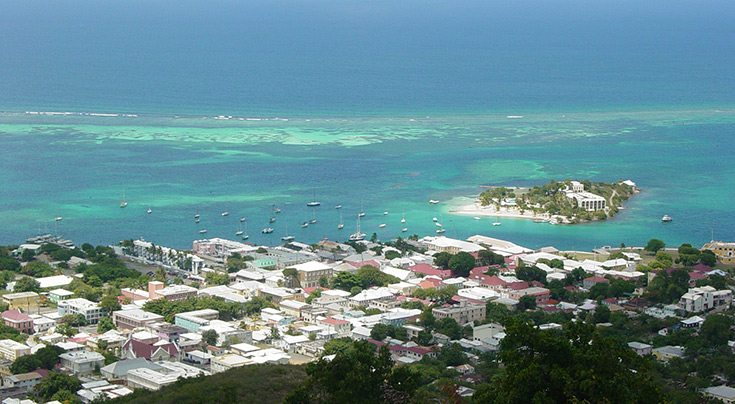 US Virgin Islands from Recovery Hill USVI