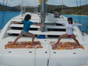 Yoga On Deck aboard FLIP FLOP Catamaran