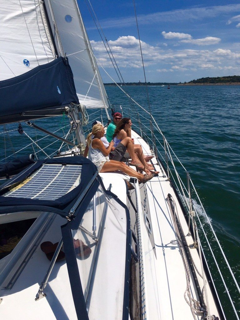 65ft sailing yacht INDEPENDENCE on route between Boston and Marblehead, MA
