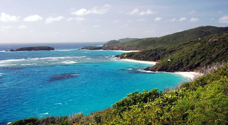 Coastline of St. Vincent Windward Islands
