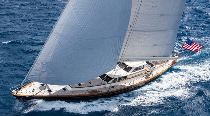 Sailing yacht MARAE at sail