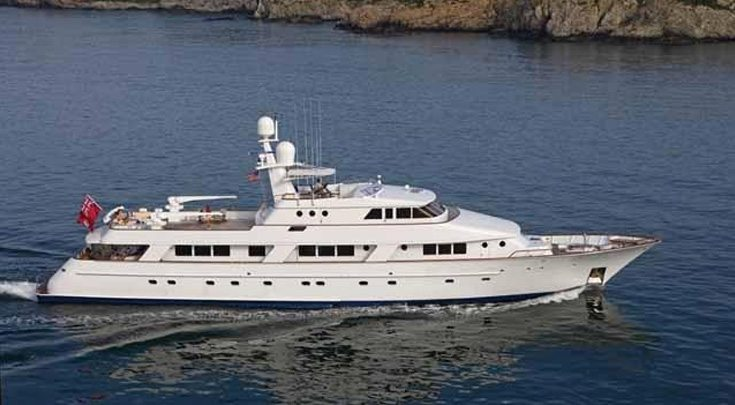 142ft NQEA motor yacht RENA in the Bahamas, Caribbean, Central America, North America and the Other Areas