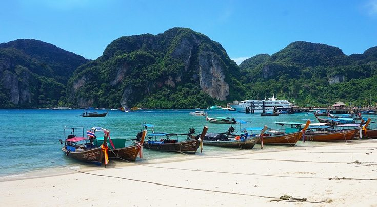Charter a private yacht to see Thailand off the beaten path beauty.