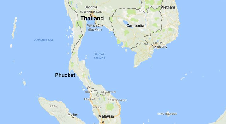 Asia-Thailand-MAP - Carol Kent Yacht Charters