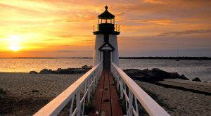 Nantucket Light house New England off Cape Cod, Massachusetts