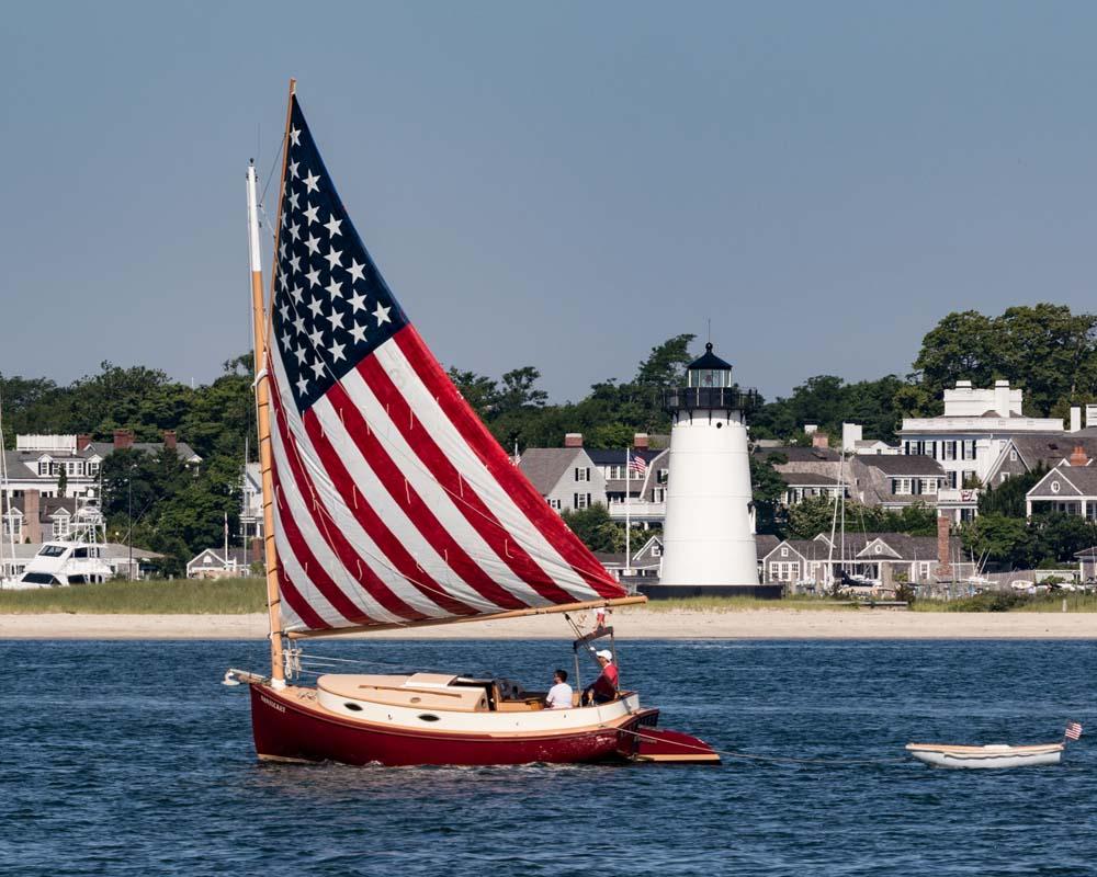 Sailing off Edgartown, Martha's Vineyard ~ Photograph © Frank Ficken