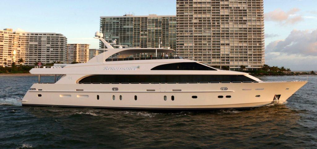 Main Shot 116' motor yacht Renaissance on the water