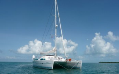 S-Y Aubisque catamaran aft shot