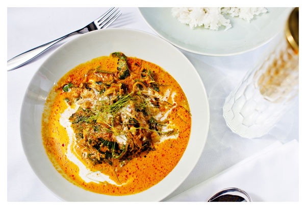 Aromatic Curry of chicken and pumpkin on the AQUA_MEKONG cruise on the Mekong River