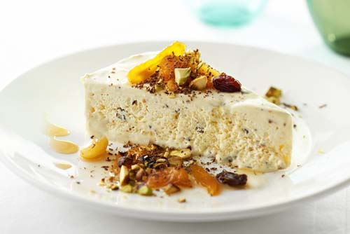 Cool cassata - dessert on the AQUA MEKONG cruise on the Mekong River
