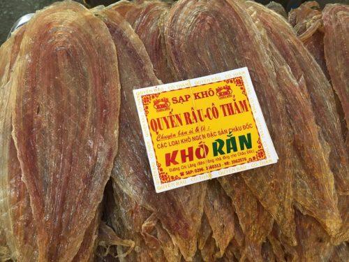 Packages of dried eel AQUA MEKONG