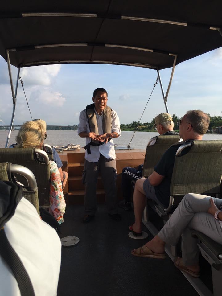 Guided tour aboard a sampan on the Mekong River AQUA MEKONG