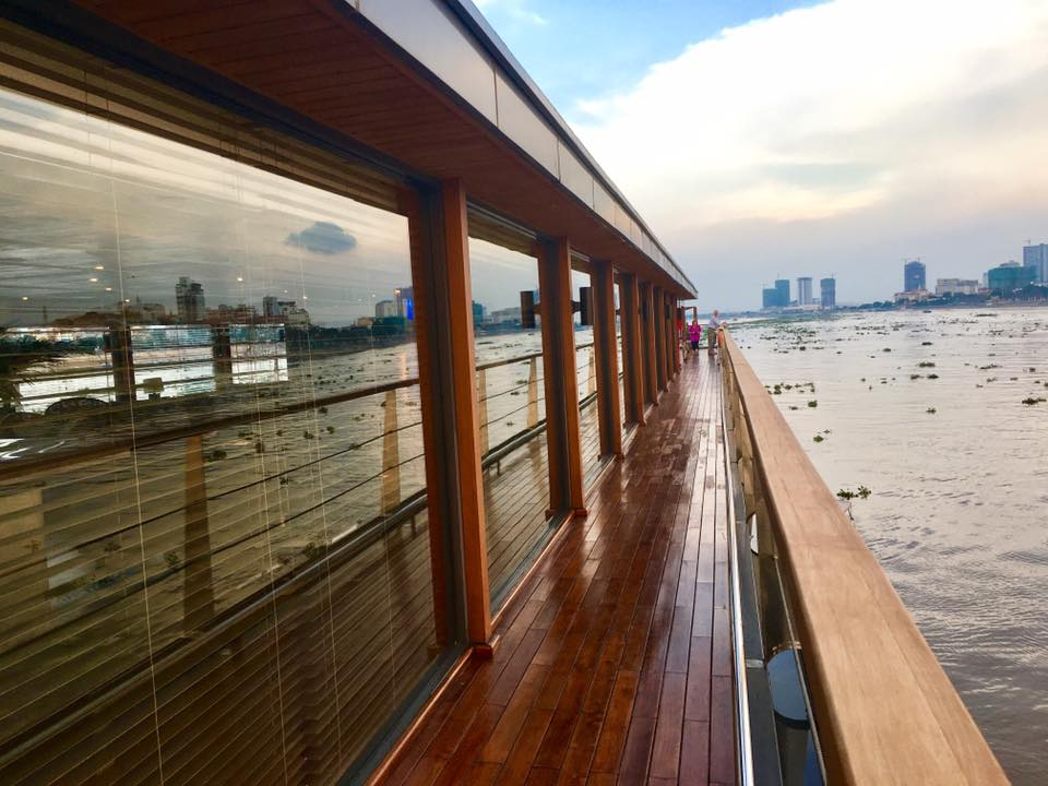 View of Saigon from aboard the 5-Star AQUA MEKONG