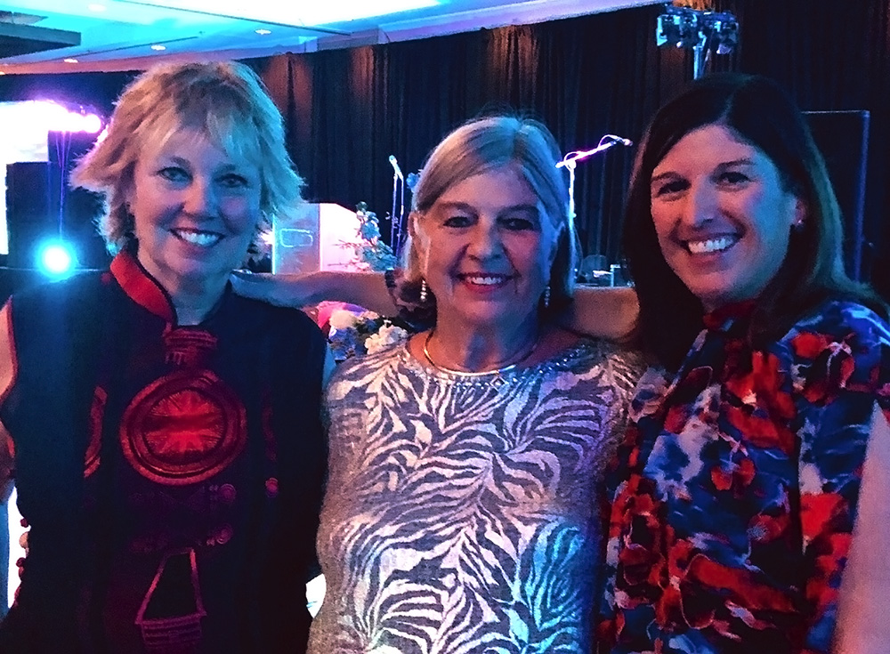 Yacht charter brokers CarolKent, LouiseDaley and Sue Gearan at the IYBA Gala at the Westin Palm Beach in Ft. Lauderdale, Florida