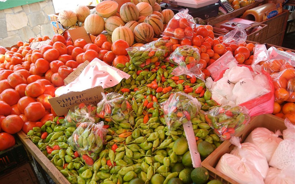 Caribbean market in Martinique