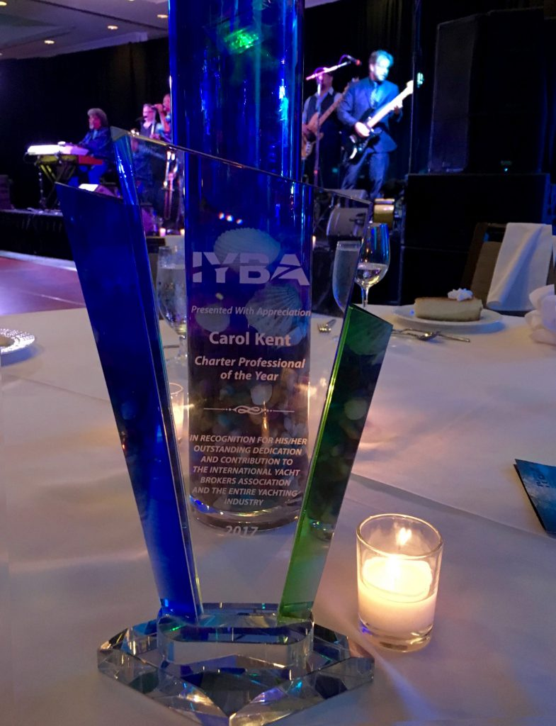 IYBA's 2017 award for Charter Professional of the Year presented to Carol Kent