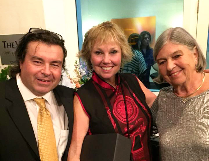 Charter yacht brokers Carlos Miquel, Carol Kent and Louise Daley at the 2018 IYBA Awards Gala
