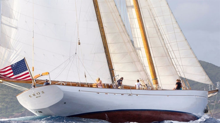 115' Classic Teak Schooner EROS has hosted many enduring celebrities and was commandeered to rescue soldiers from Dunkirk!