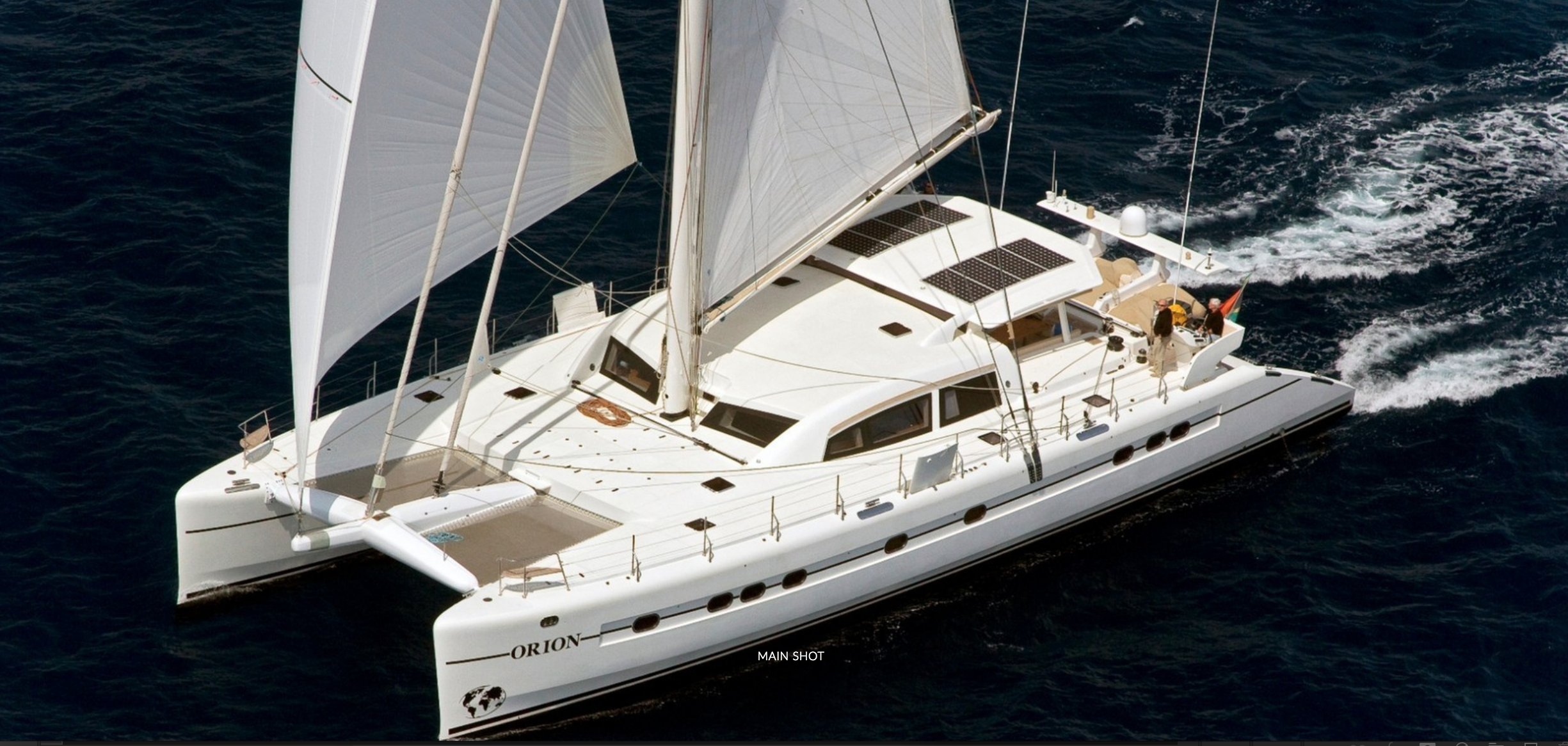 Main shot of 90ft sailing yacht ORION