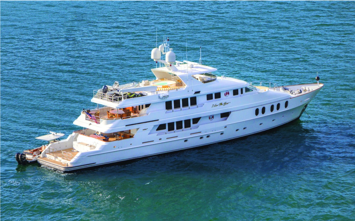Main shot of 145foot motor yacht I LOVE THIS BOAT