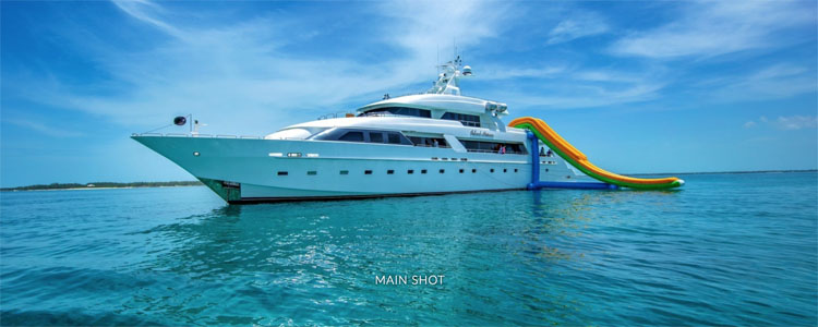 Main shot of 145 ft Cheoy Lee motor yacht ISLAND HEIRESS