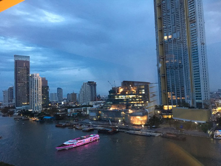 Harbor twilight in Bangkok, Thailand yachting fam trip in thailand