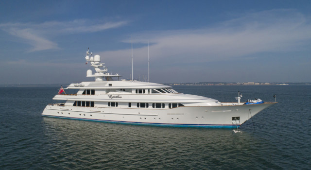 Main shot of 173ft Feadship motor yacht CYNTHIA