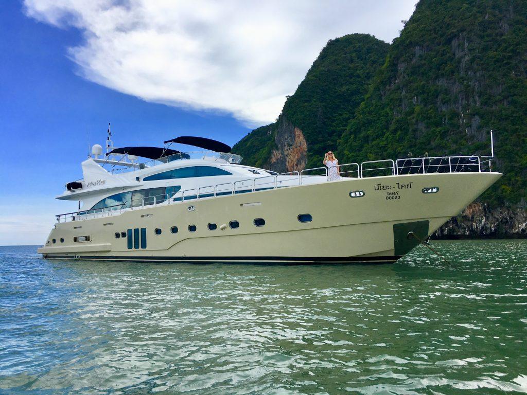 97ft Bilgin motor yacht MIA KAI cruising in Thailand YACHTING FAM TRIP IN THAILAND