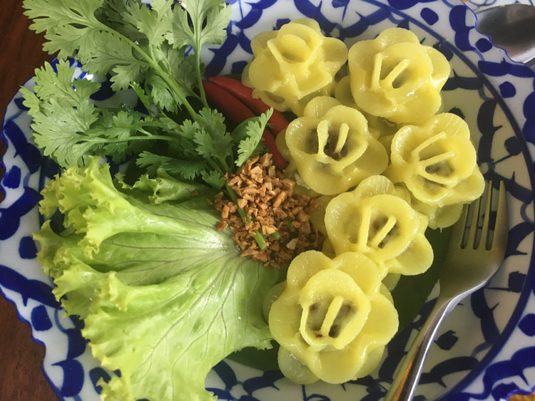 Thai food on our yacht charter was treated as a delicacy and an art form.