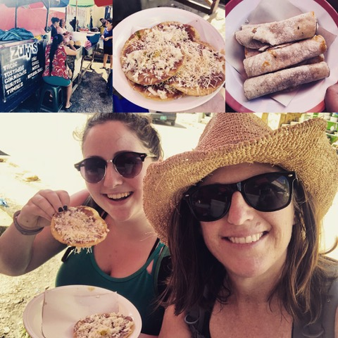 The Gearan sisters, Molly and Sue, sample the exciting local street food in Belize.