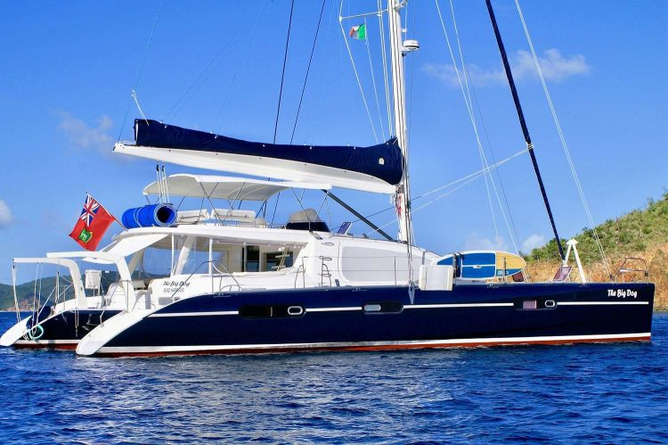 MainShot of The Big Dog 62ft Leopard Catamaran sailing yacht
