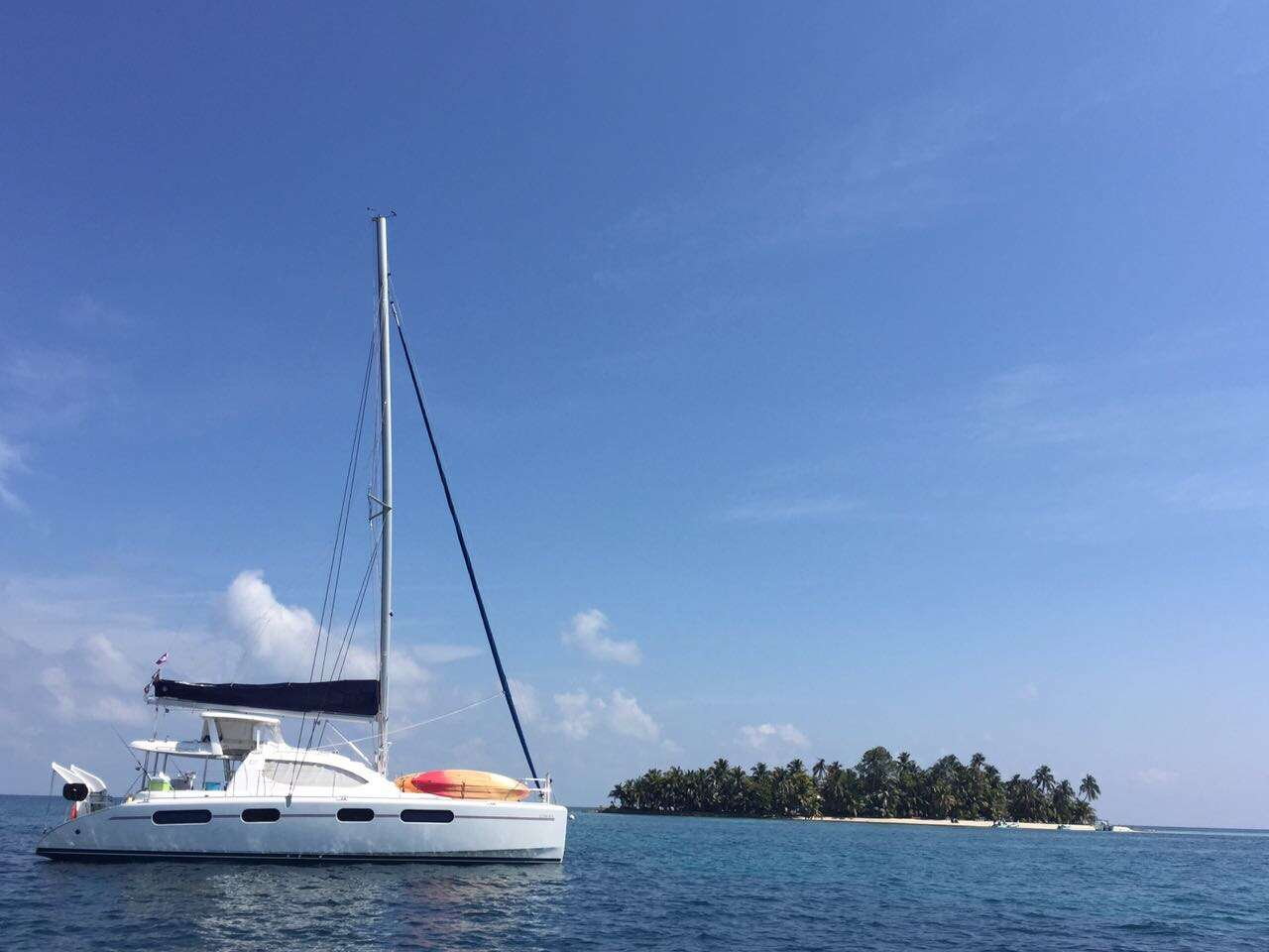 Main Shot of Luna Sea 46ft Robertson and Caine catamaran sailing yacht