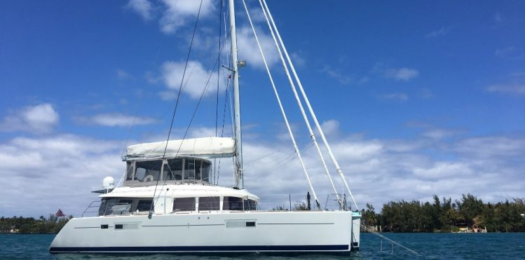 Main shot of 56ft Lagoon catamaran sailing yacht STERLING