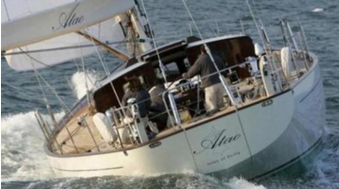 82ft JFA Chantier Naval sailing yacht ATAO operates in Australasia
