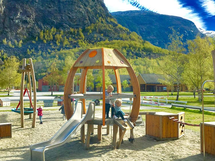 Playground in Lærdalsøryia Norway©CKYCI