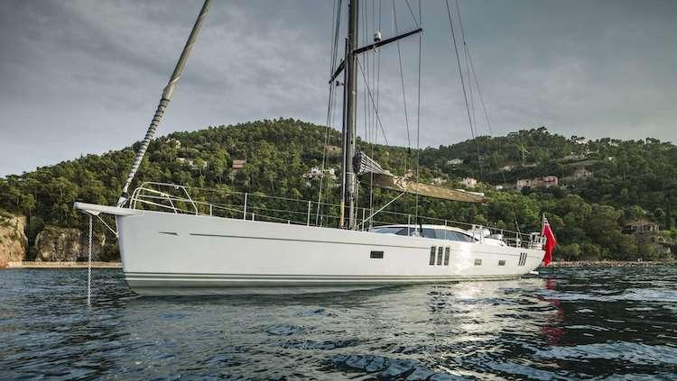 Main shot of 72ft Oyster 745 sailing yacht GRAYCIOUS
