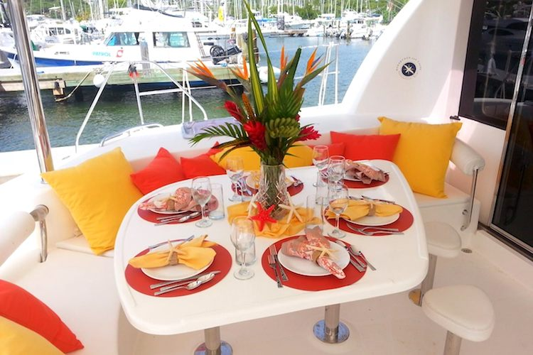 Al Fresco Dining in Cockpit on the S/Y Starfish