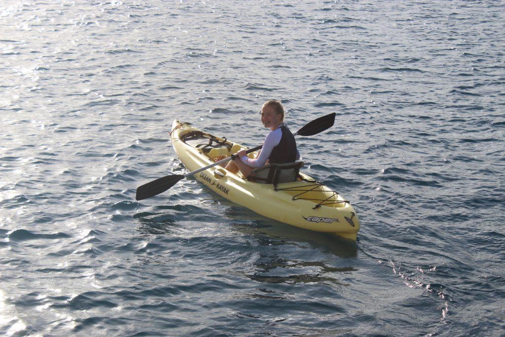 Ballard daughter in kayak off S-Y STARFISH