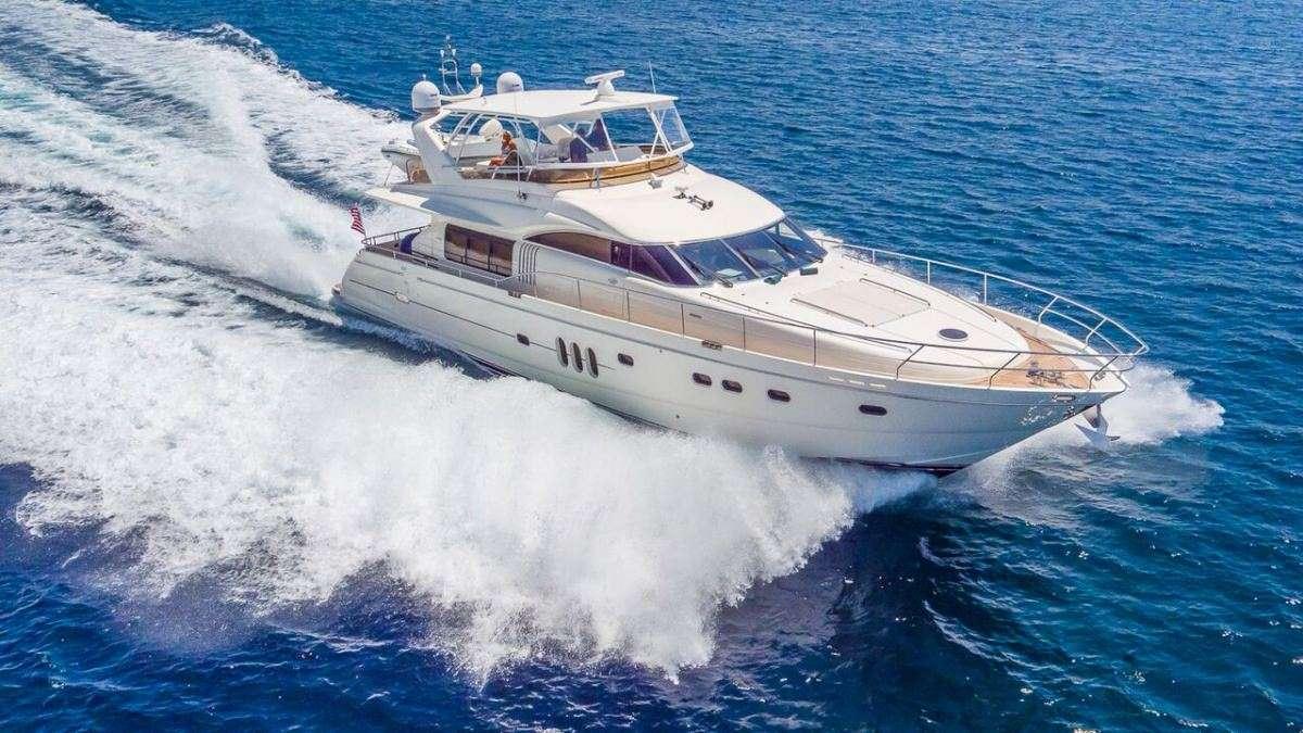 75ft Viking Princess motor yacht HOYA SAXA at sea