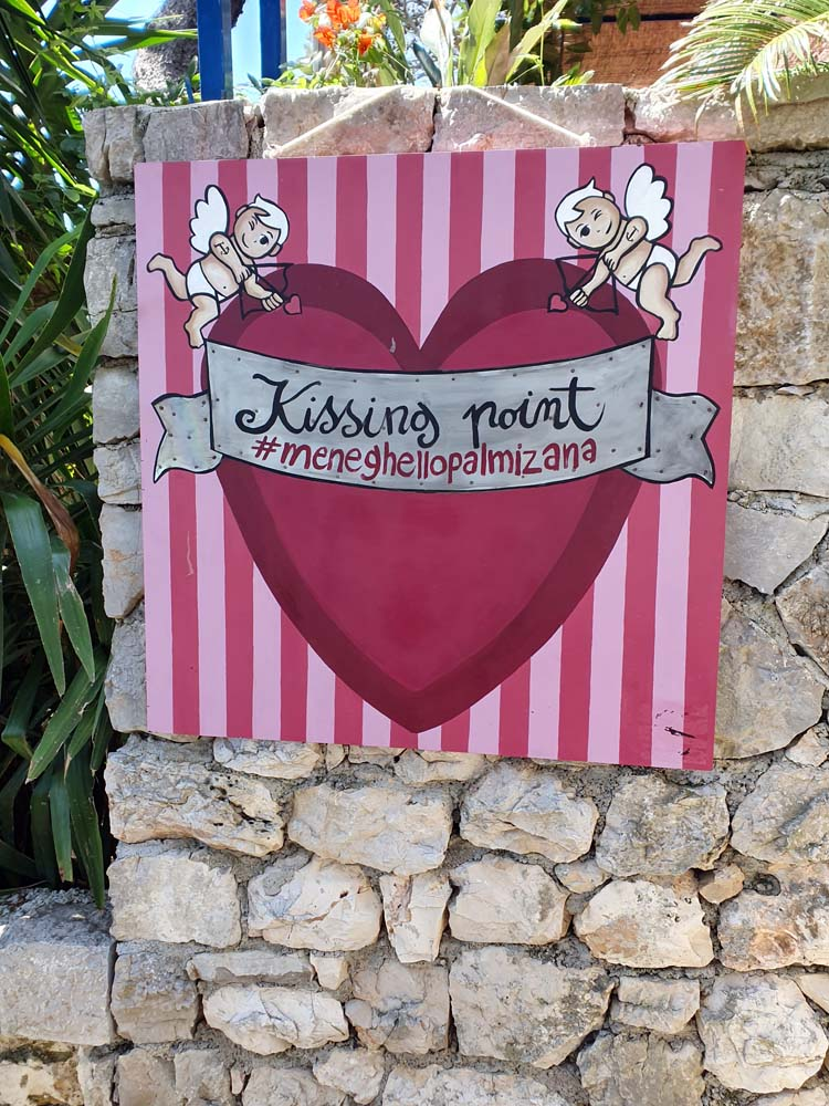 Kissing Point Banner from Palmizana Restaurant in Hvar, Croatia