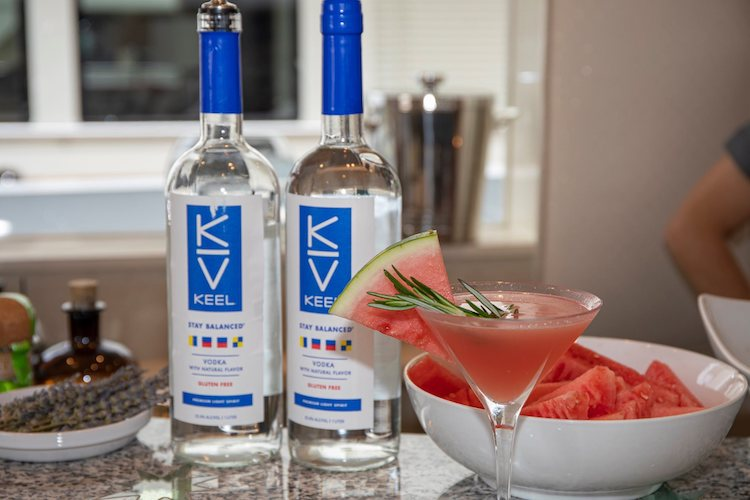 Watermelon cocktails with rosemary and Keel vodka by M/V INVISION and MAGICAL DAYS. Photo by Billy Black