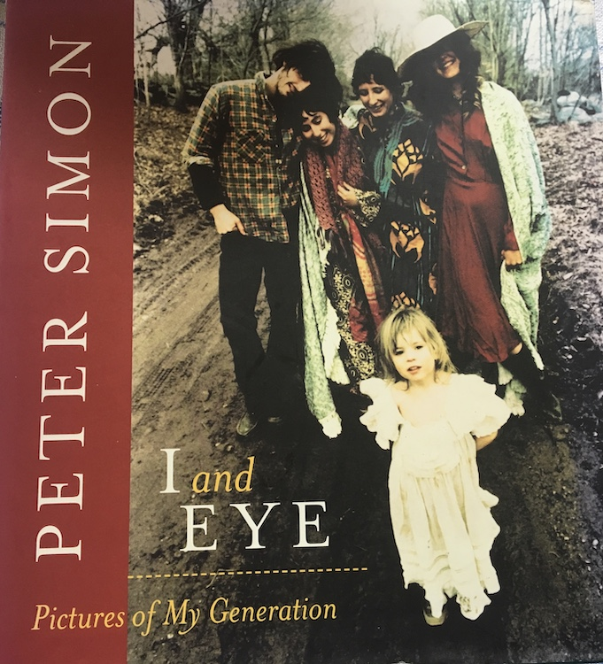 Cover of Peter Simon's book of photographs entitled I and Eye: Pictures from My Generation