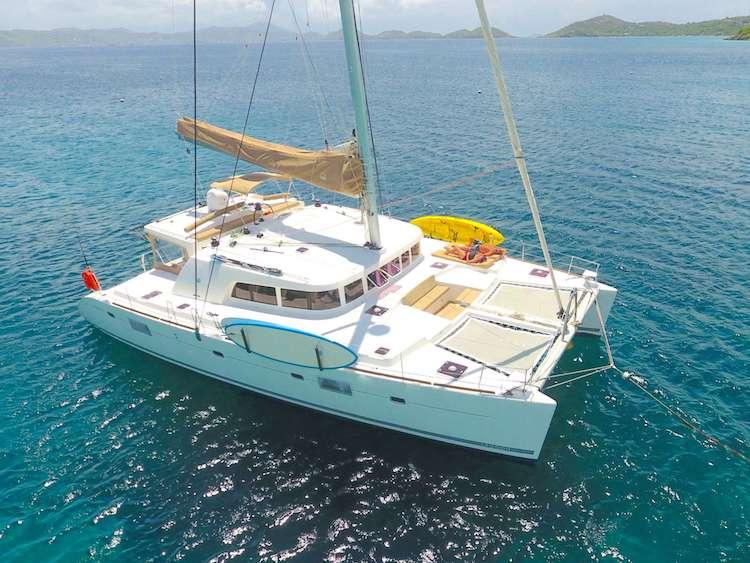 Better Days 50ft Lagoon S-Y Catamaran at sea