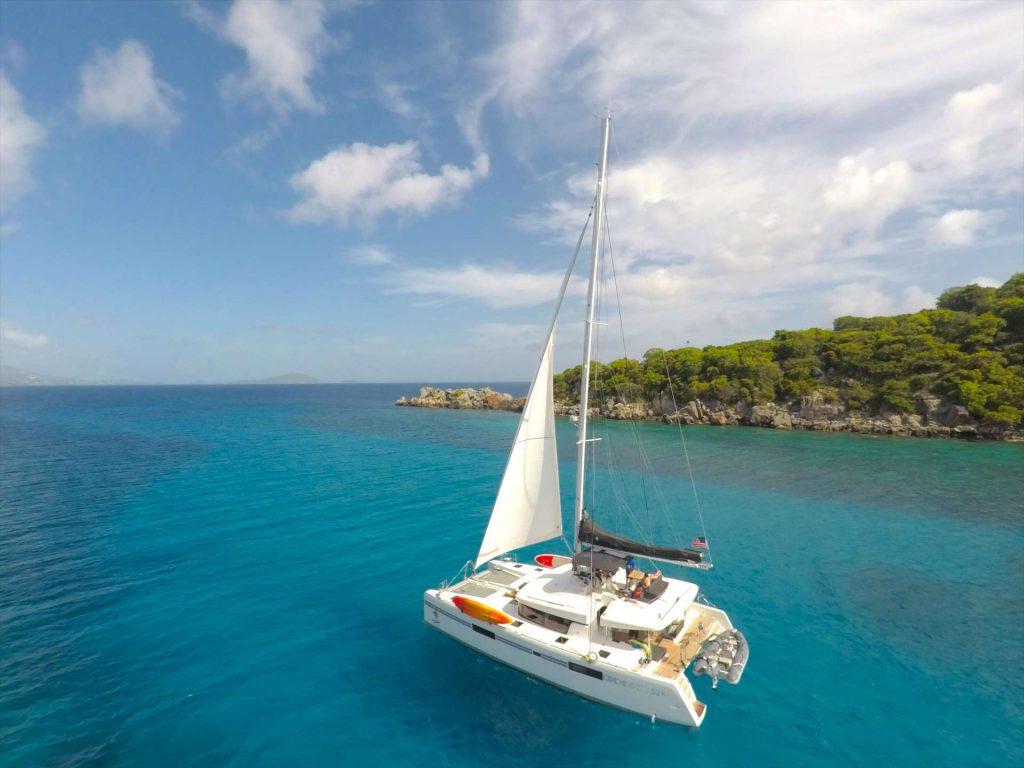 Stop Work Order 52ft Lagoon Catamaran at sea