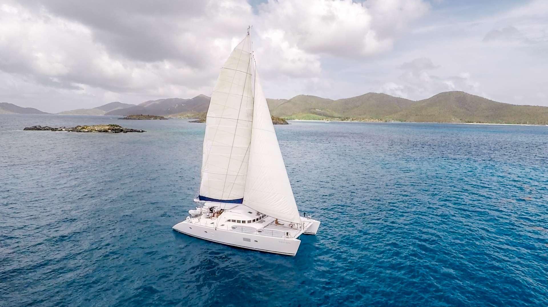 Tabula Rasa 57ft Lagoon S-Y Catamaran at sea